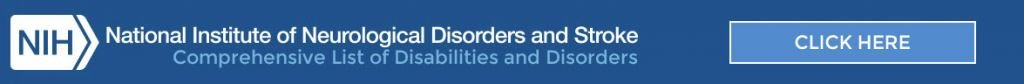 comprehensive lists of disabilities and disorders
