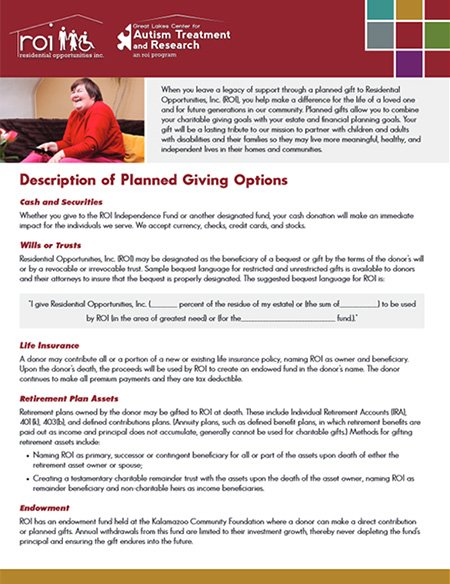 ROI Planned Giving Options