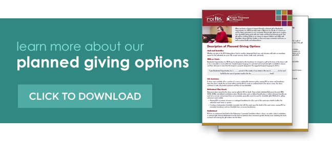 Planned giving options.